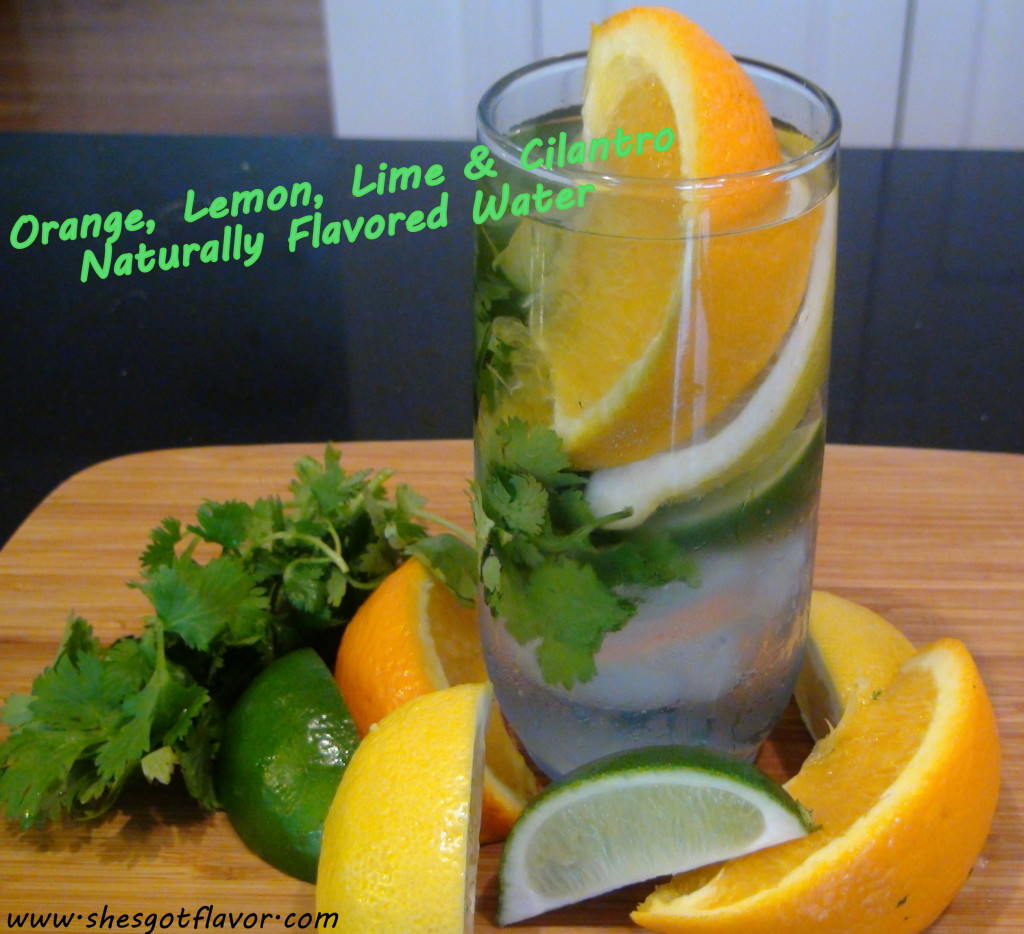 www.shesgotflavor.com naturally flavored water citrus and cilantro