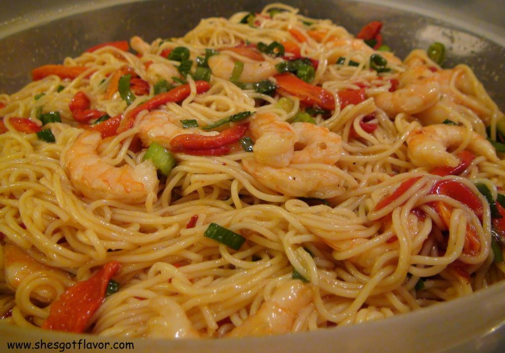 www.shesgotflavor.com Asian Shrimp Pasta Salad S