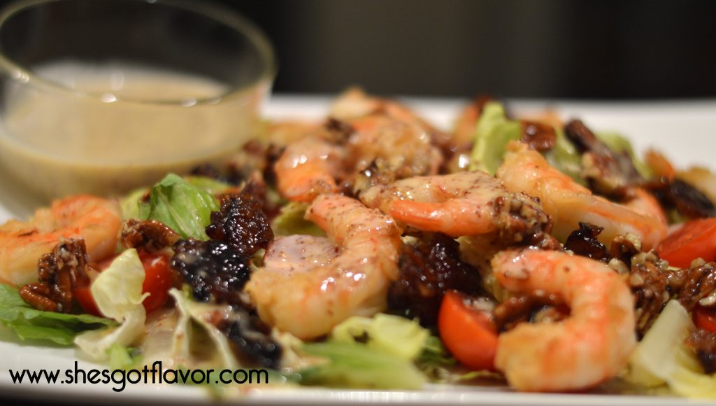 www.shesgotflavor.com Shrimp and candied bacon lemon honey mustard dressing Utokia Langley