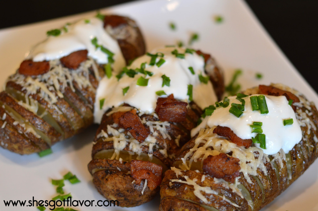 Hasselback Potatoes Bacon and Sour Cream Utokia Langley Shes got flavor