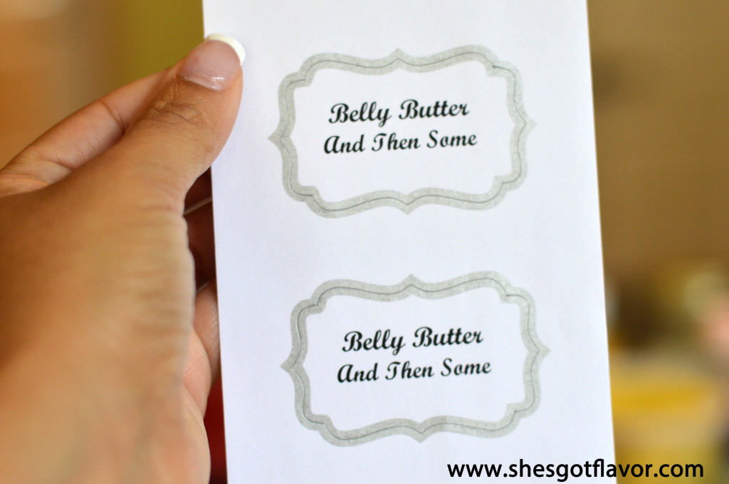 Belly Butter And Then Some Label
