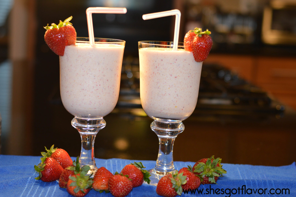 Strawberry and Mango Ice Cream Shake